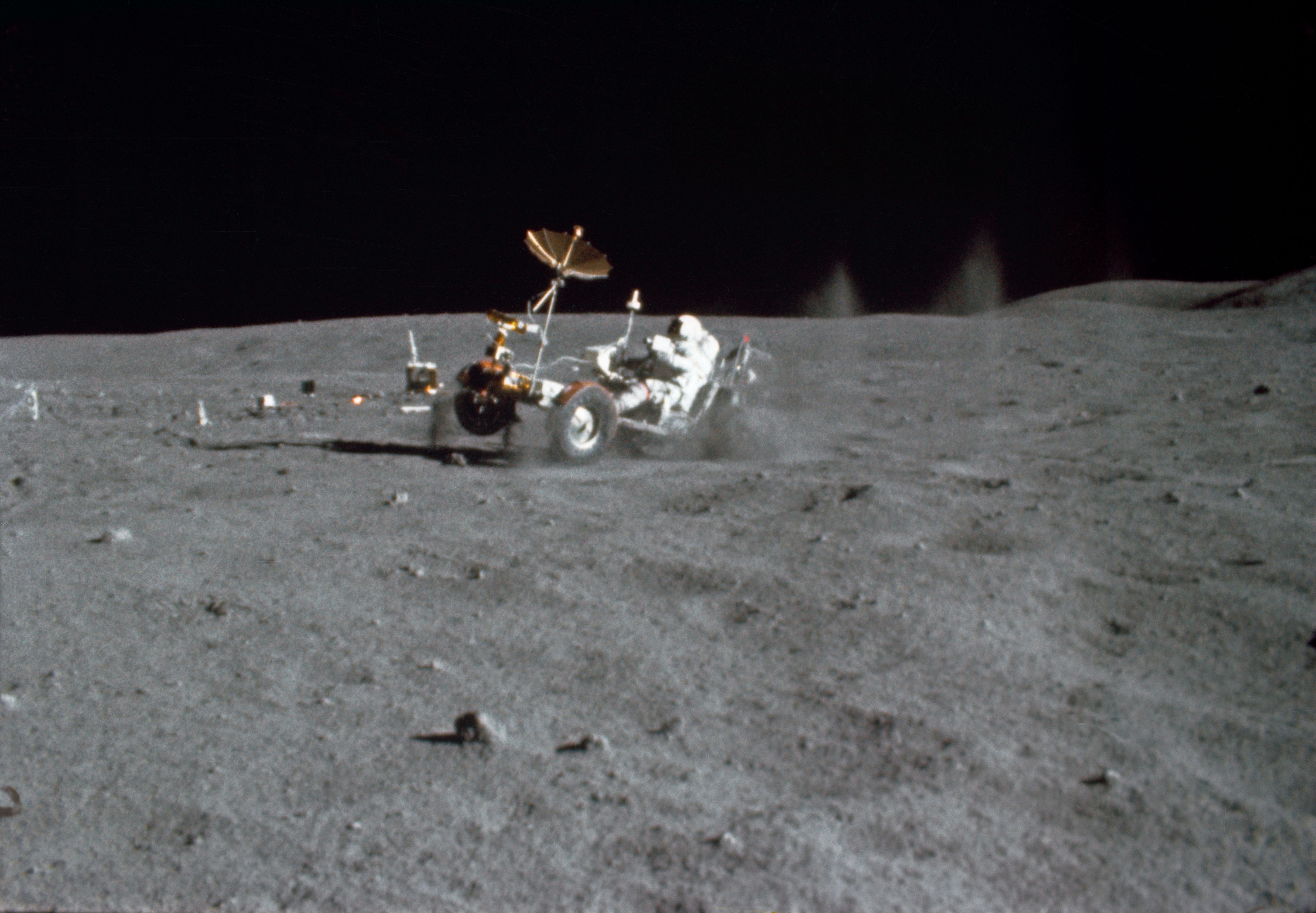 John Young on Moon; Apollo 16 NASA Photo; 1972