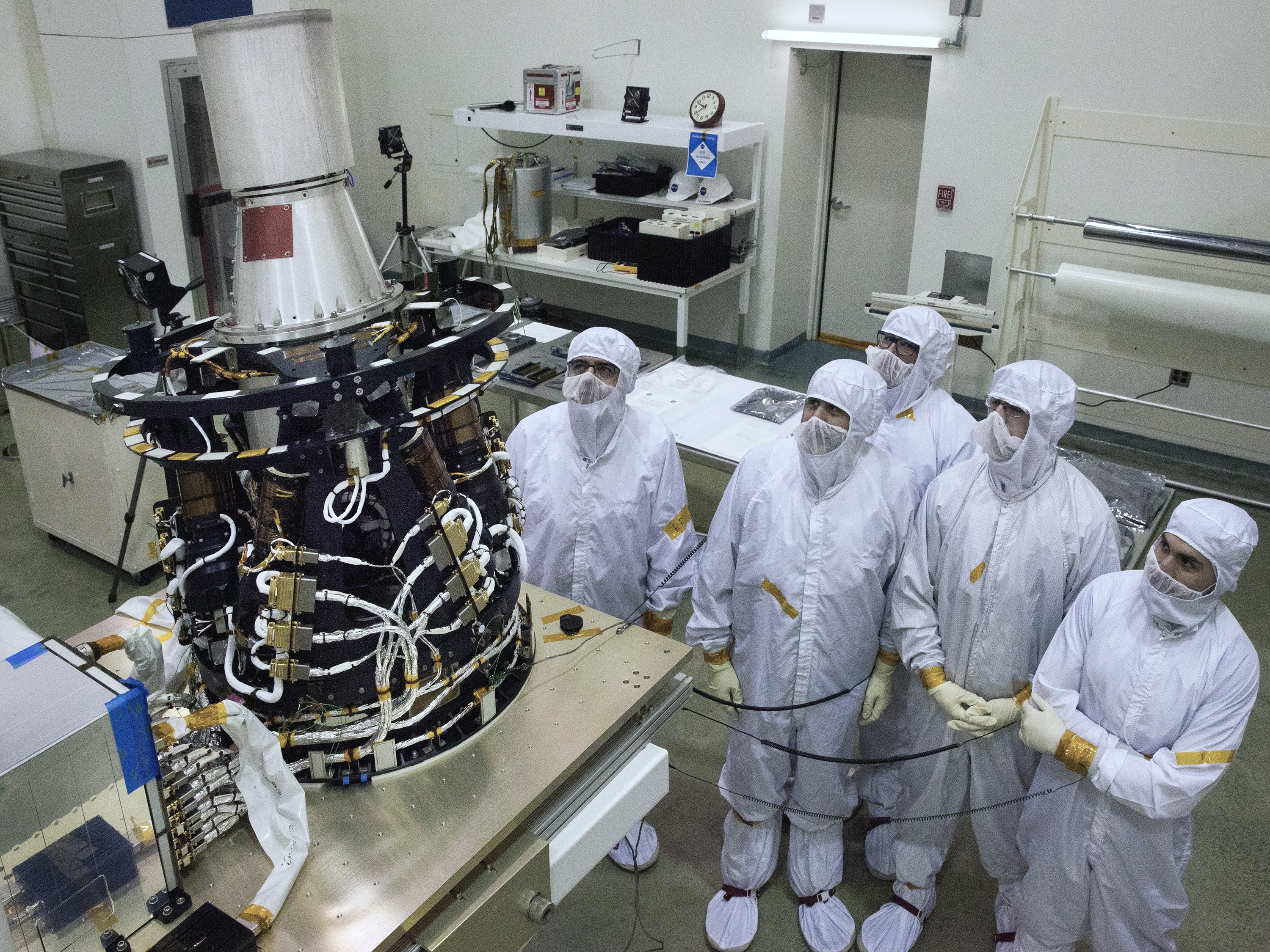 Shown With The Hexapod Pointing System In A Clean Room At NASA Langley Are From