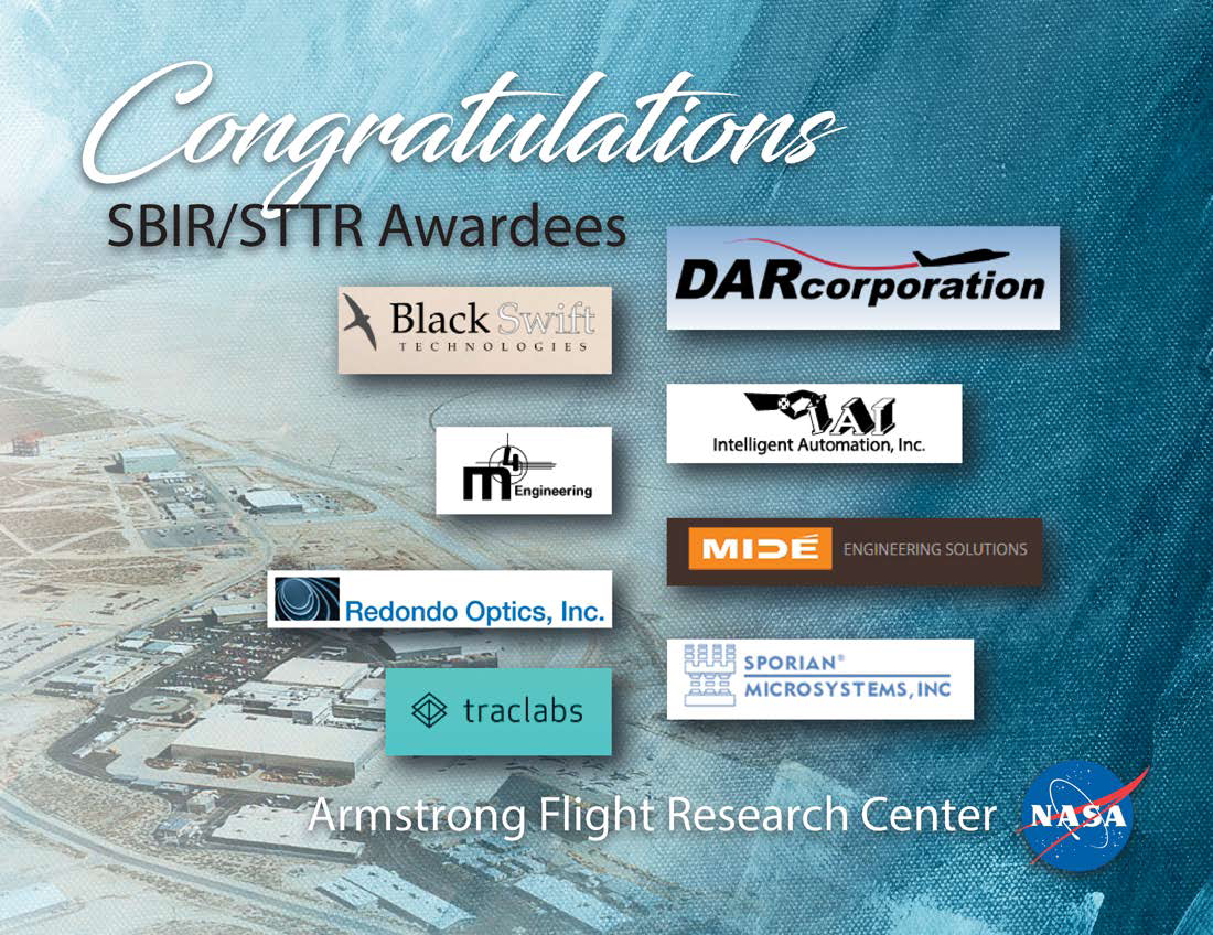 NASA Armstrong Awards 1 Million To US Small Businesses For Technology Research And Development