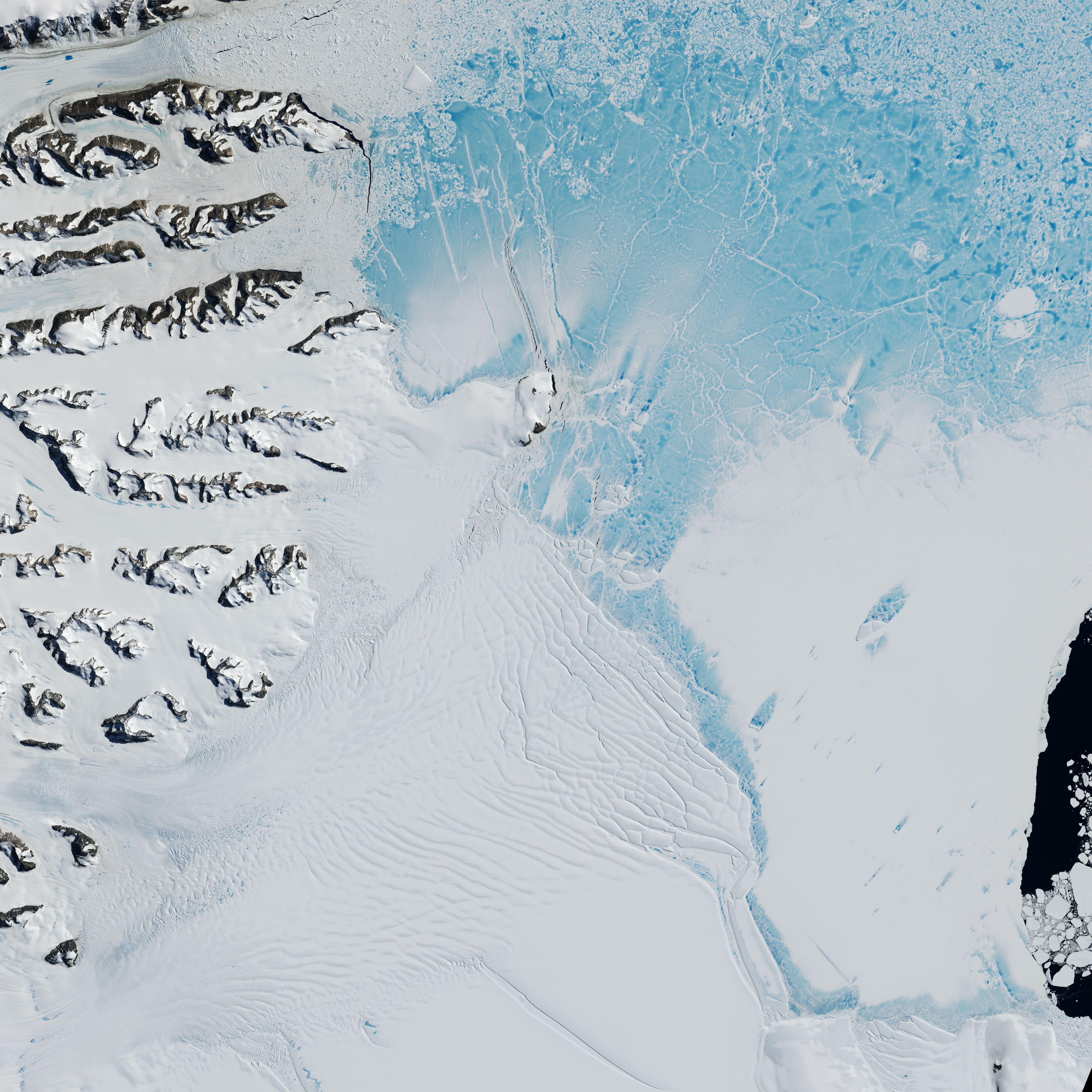 Antarcticas Changing Larsen Ice Shelf NASA - Us gove ice map