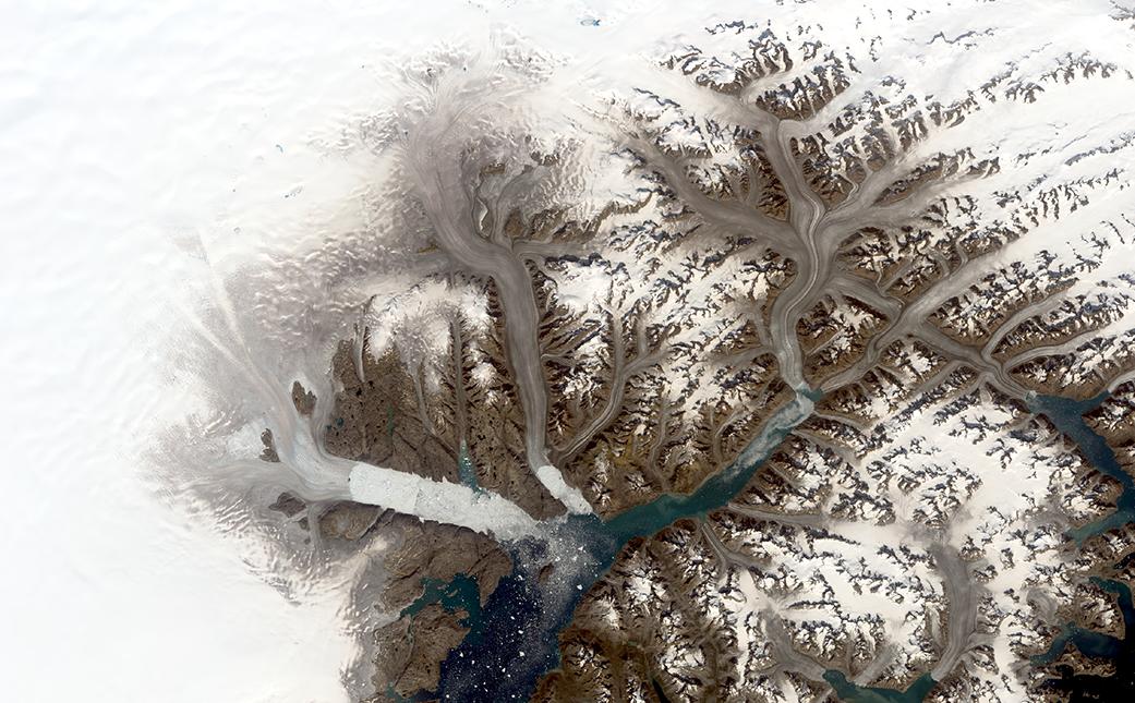 Landsat Illustrates Five Decades of Change to Greenland Glaciers