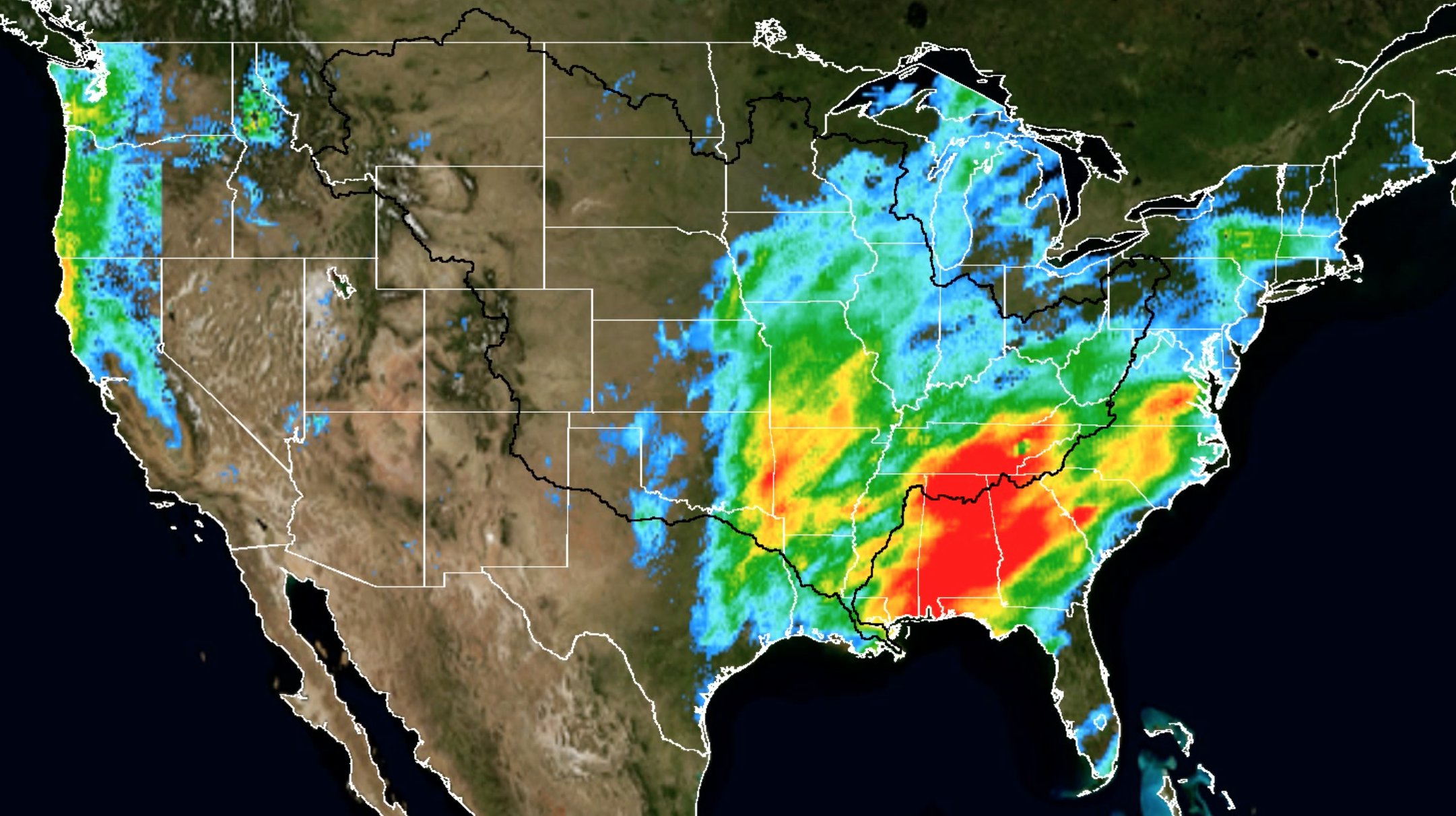 Animation Shows Rainfall of Mississippi River Flooding | NASA