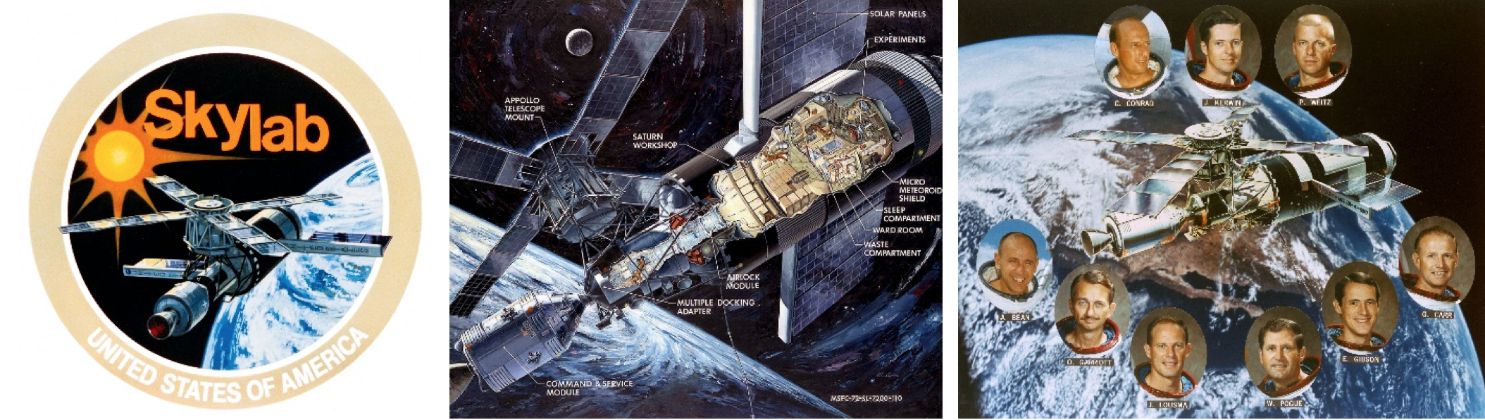 Skylab Space Station PHOTO Astronauts Lab Earth Orbit Final Crew Photo