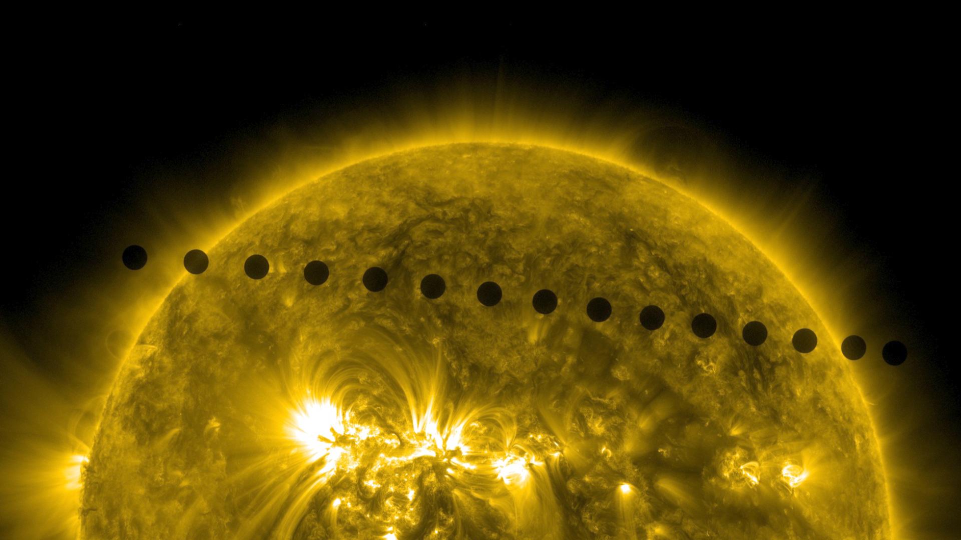 2012 Venus Transit Path | NASA
