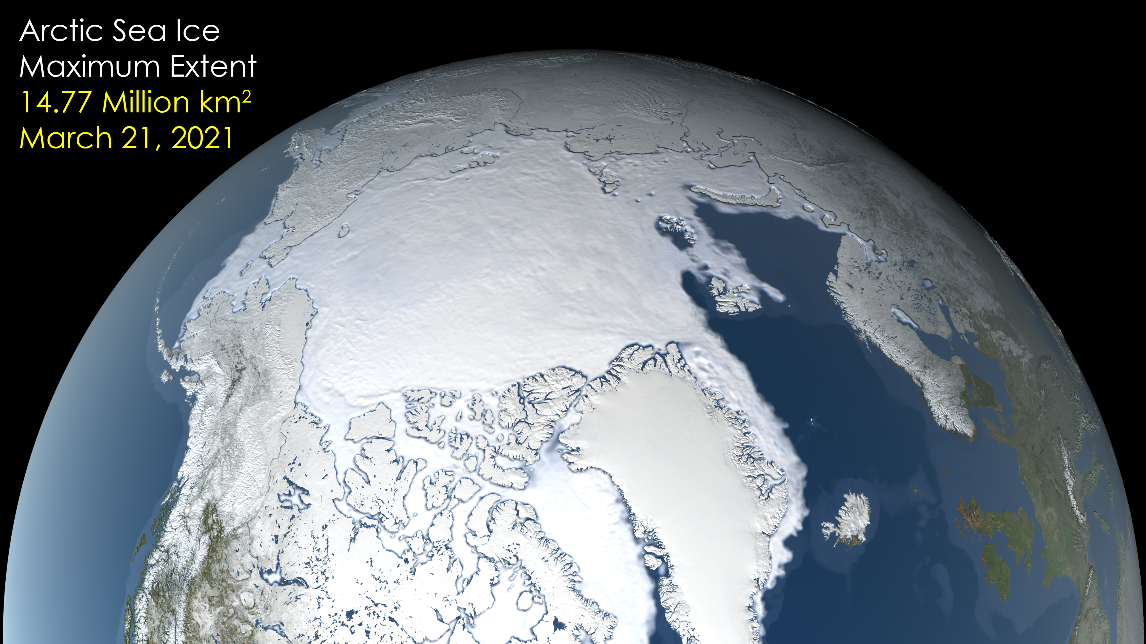 Image: NASA Finds 2021 Arctic Winter Sea Ice Tied for 7th-Lowest on Record