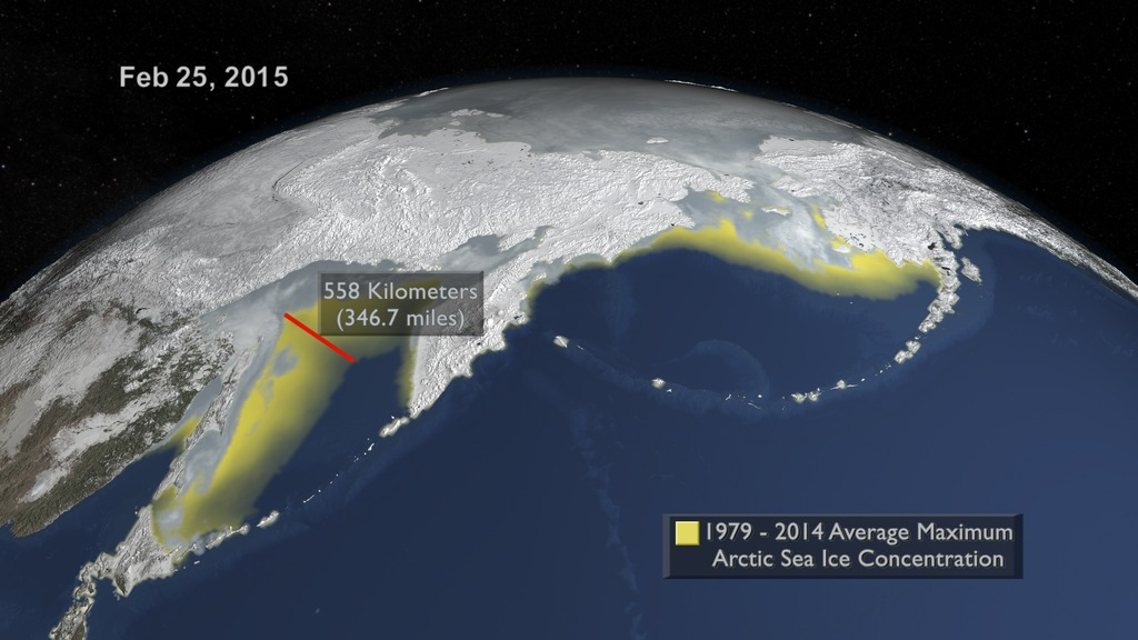 Global Sea Ice Diminishing Despite Antarctic Gains - Us gove ice map