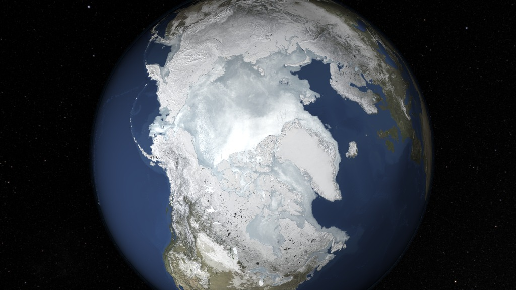 depiction of likely Arctic sea ice maximum extent for 2015 on Feb. 25. & 2015 Arctic Sea Ice Maximum Annual Extent Is Lowest On Record | NASA