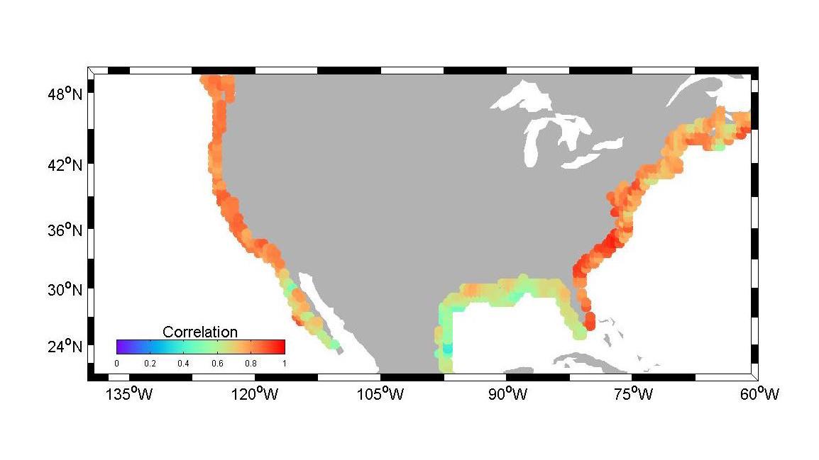 New Tool May Assist Us Regional Sea Level Planning Nasa - Sea-level-map-of-us