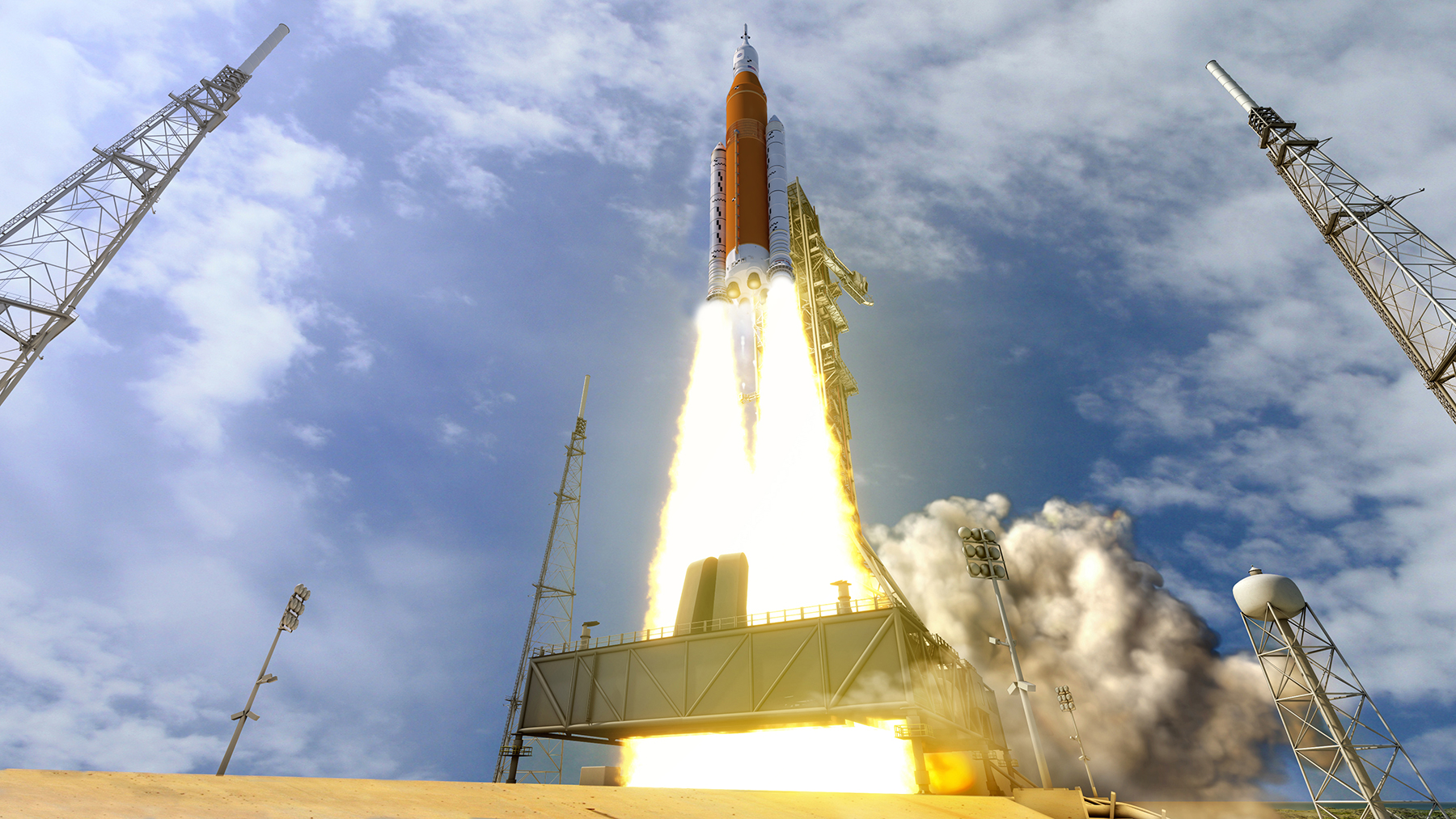NASA uses water blast to test Space Launch System NASA uses water blast to test Space Launch System new foto
