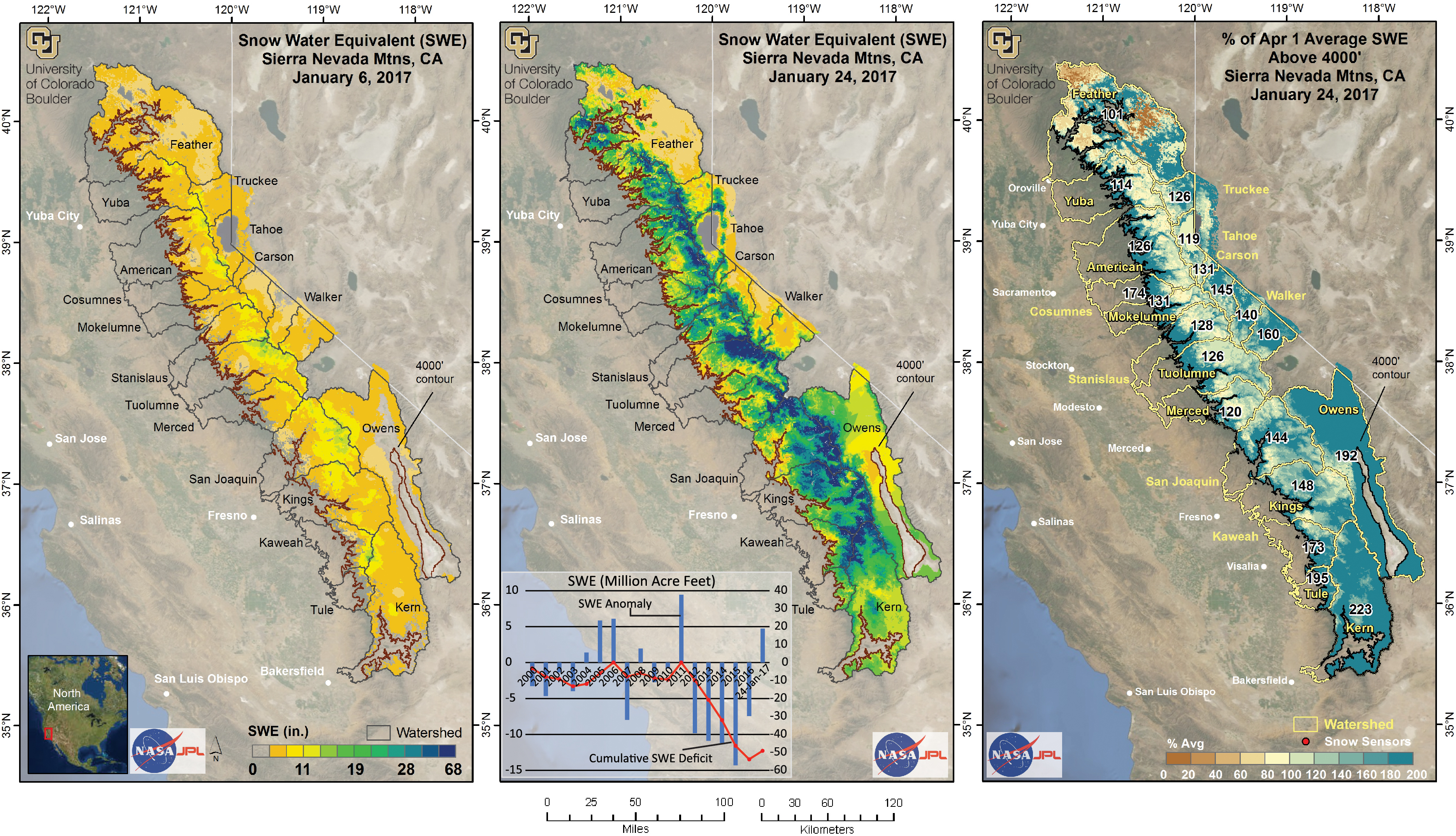 Maps Show How Much Water Was Stored In The Sierra Snowpack