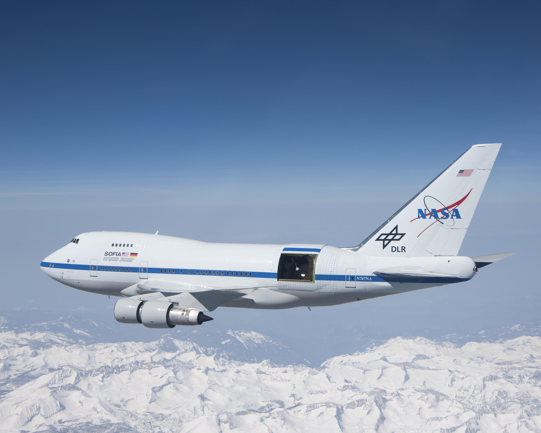 SOFIA con portellone del telelscopio aperto Credits: NASA