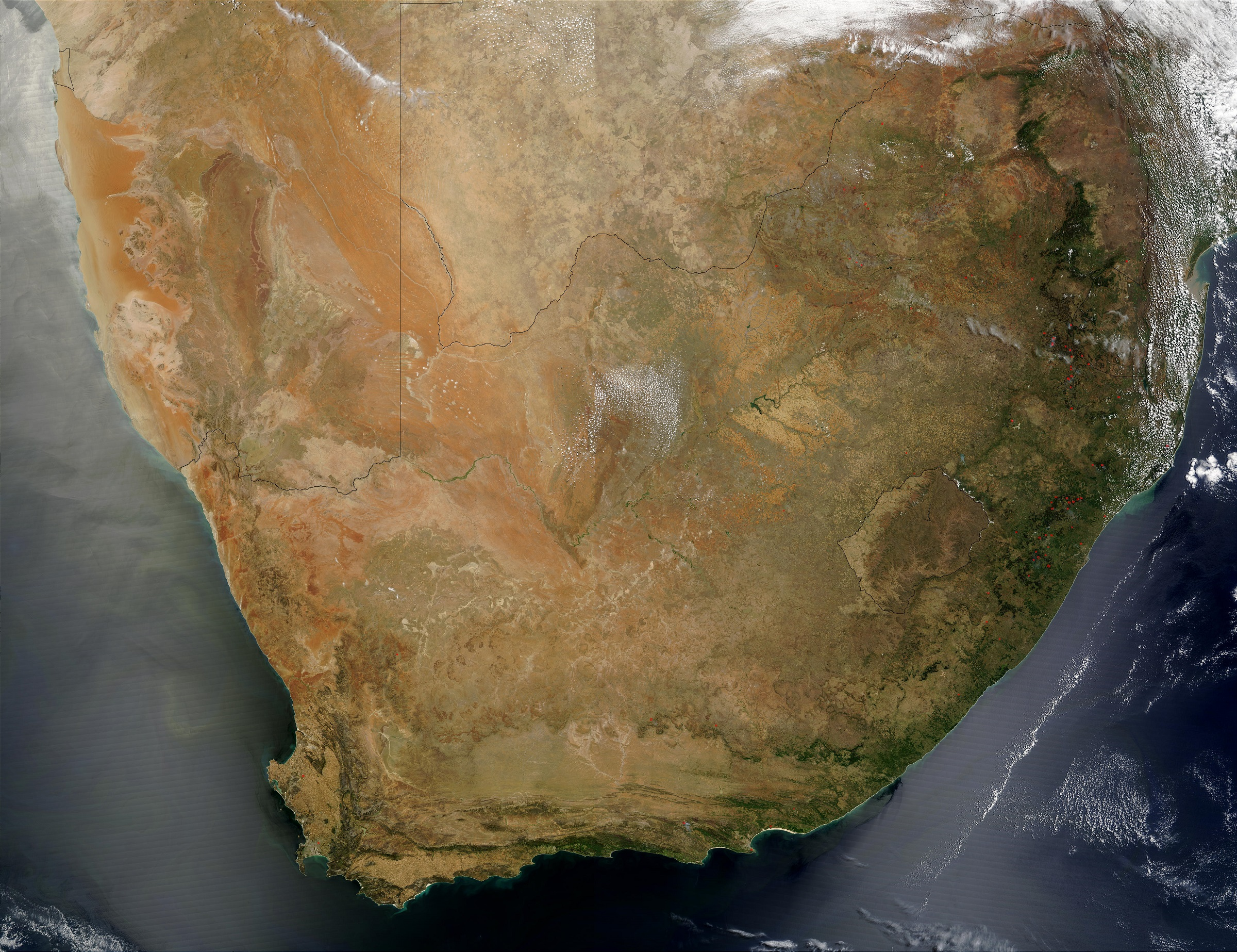 Nasa S Oracles Airborne Science Campaign Will Operate From Walvis Bay Namibia Top Left Corner