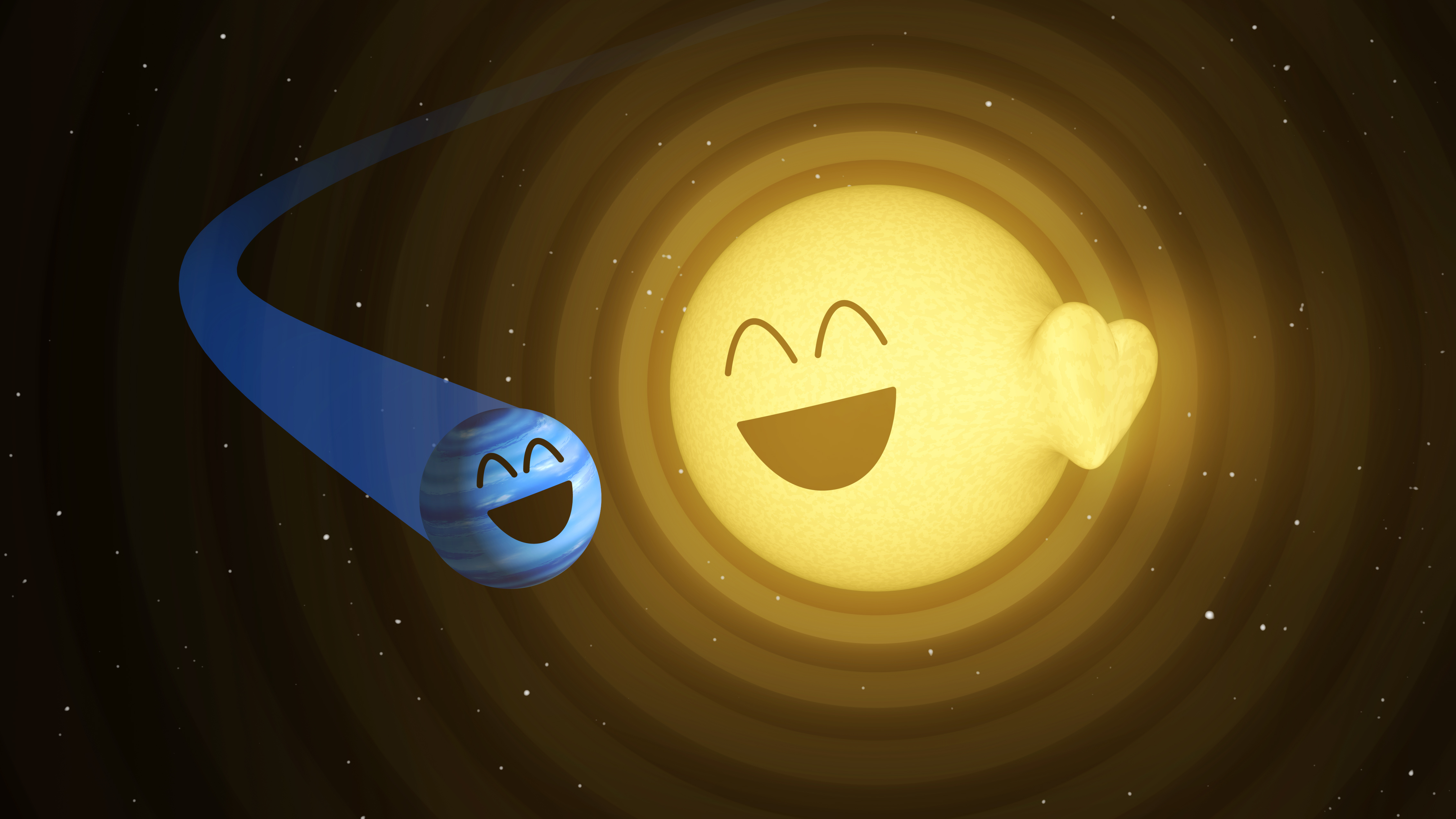 This Illustration Shows How The Planet Hatp2b, Left, Appears To