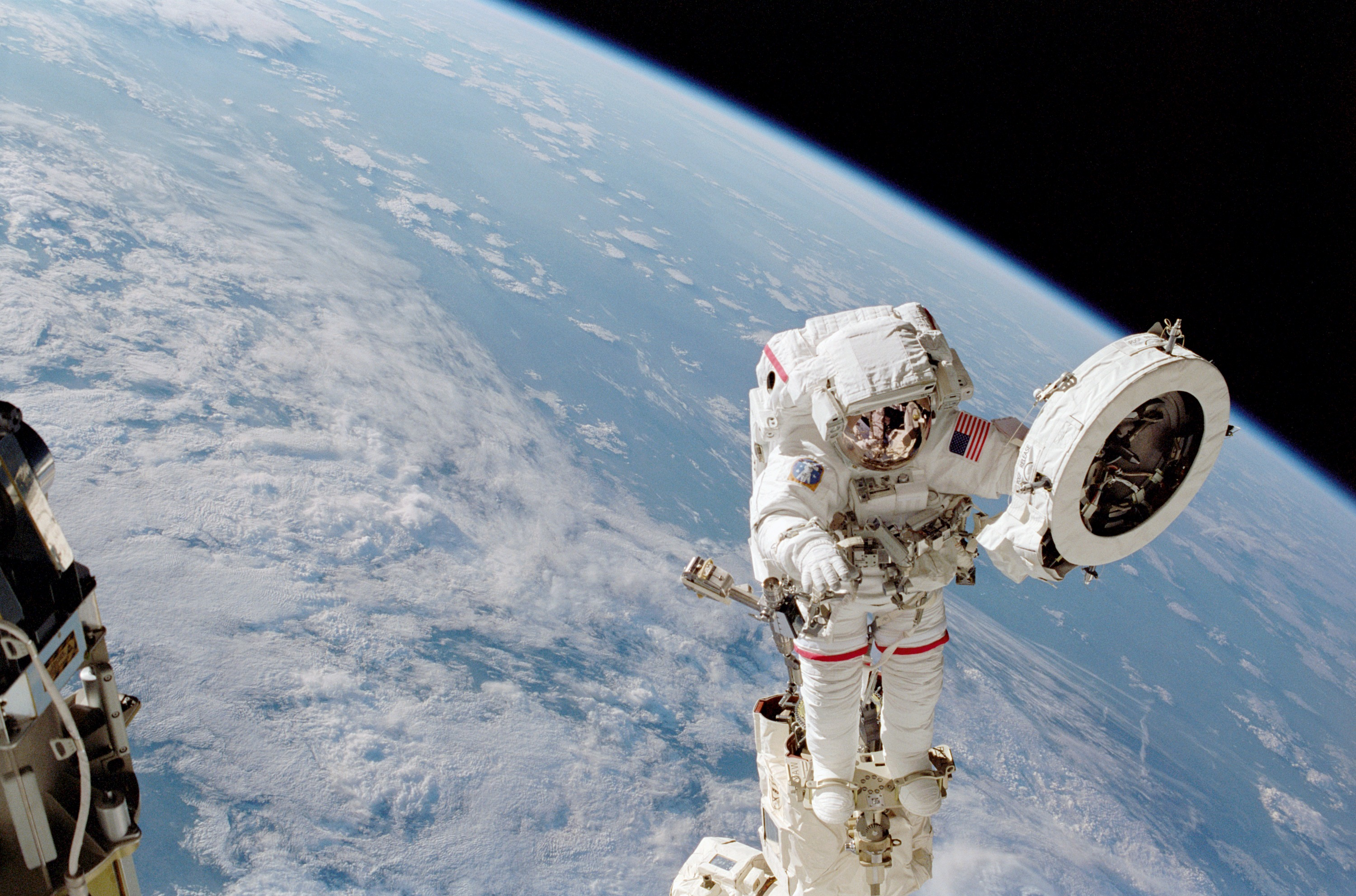 Franklin Chang-Diaz Performs a Spacewalk on the STS-111 Mission