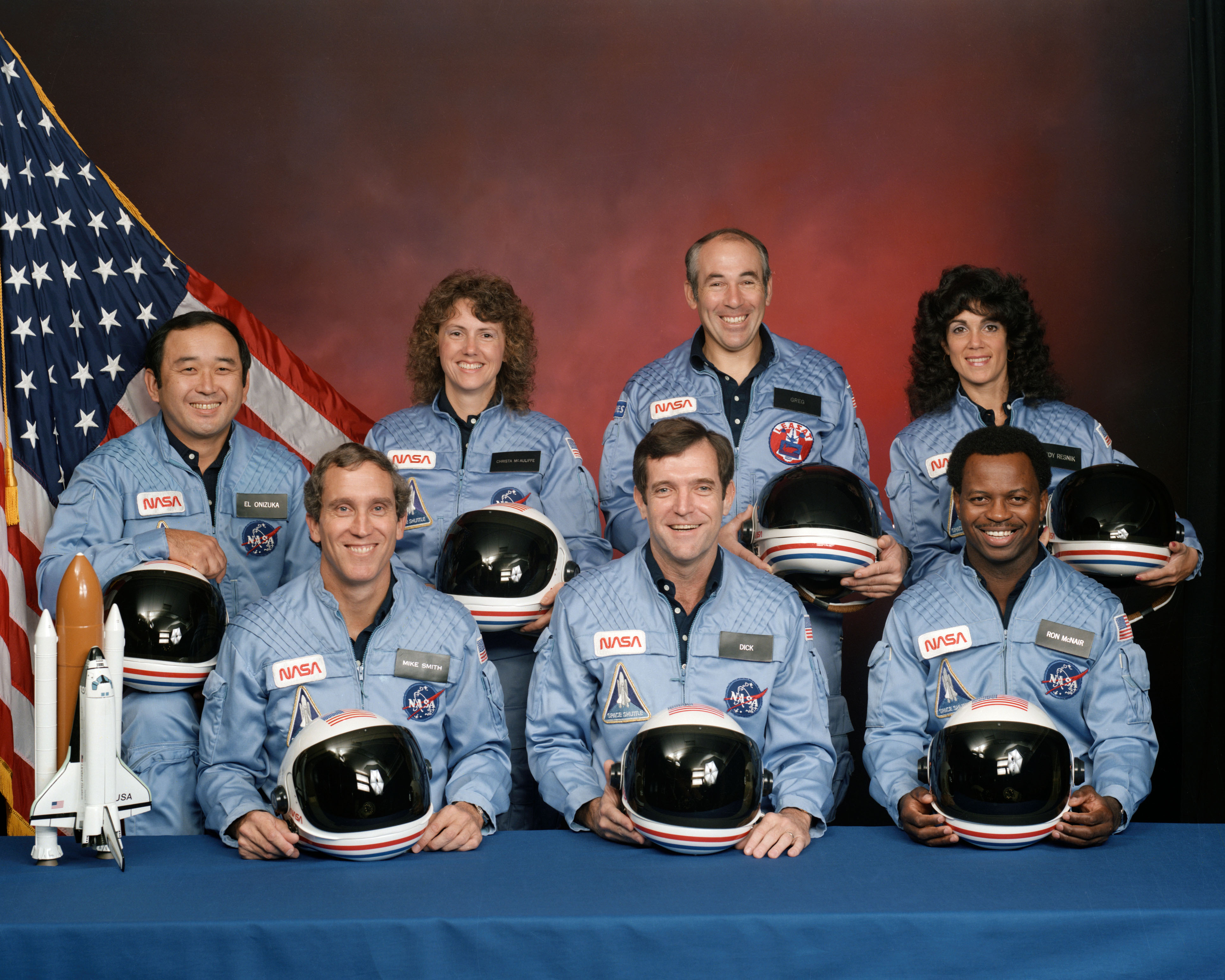 5 Sizes! Restored Satin Finish Photo Final Crew of Space Shuttle Challenger