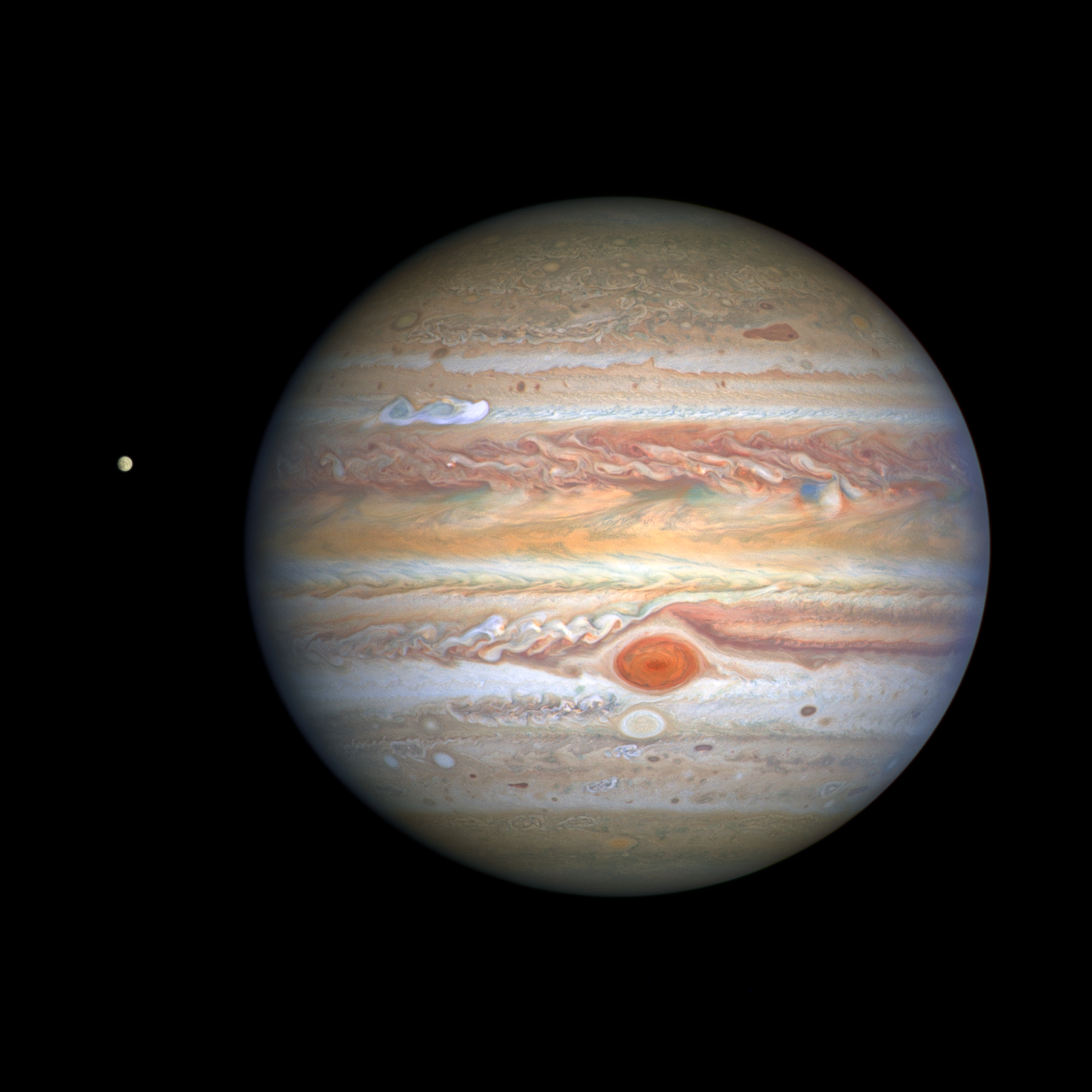 Hubble Catches Massive New Storm Brewing on Jupiter 2