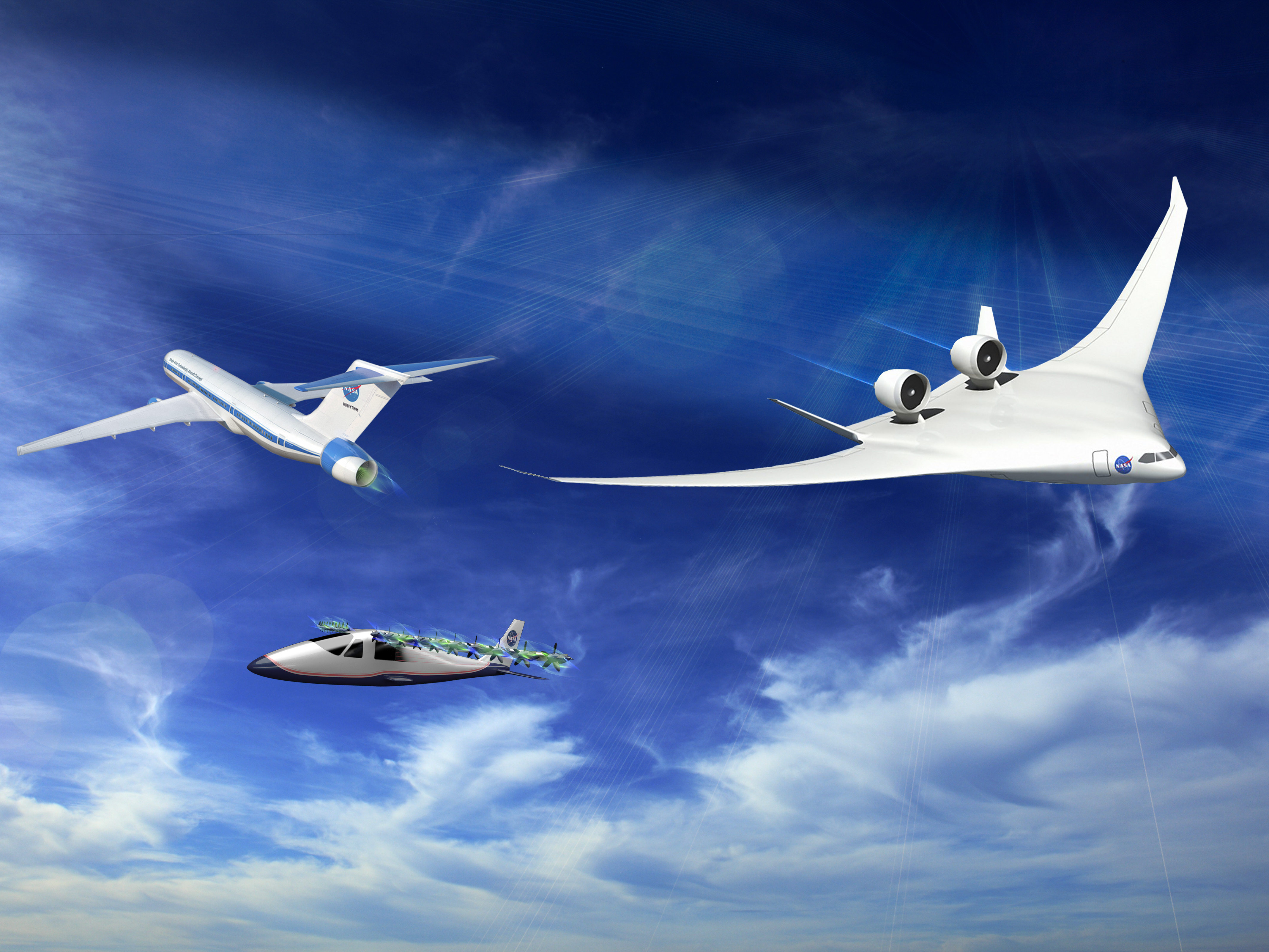 With the recent advances in technology and design aircraft concepts - Artist Concept Of Subsonic Vehicles In Fight