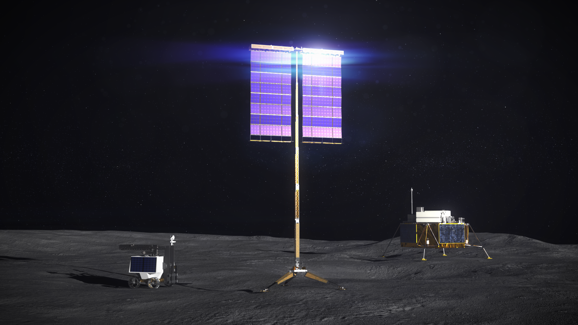 NASA, Industry Mature Vertical Solar Arrays for Lunar Surface