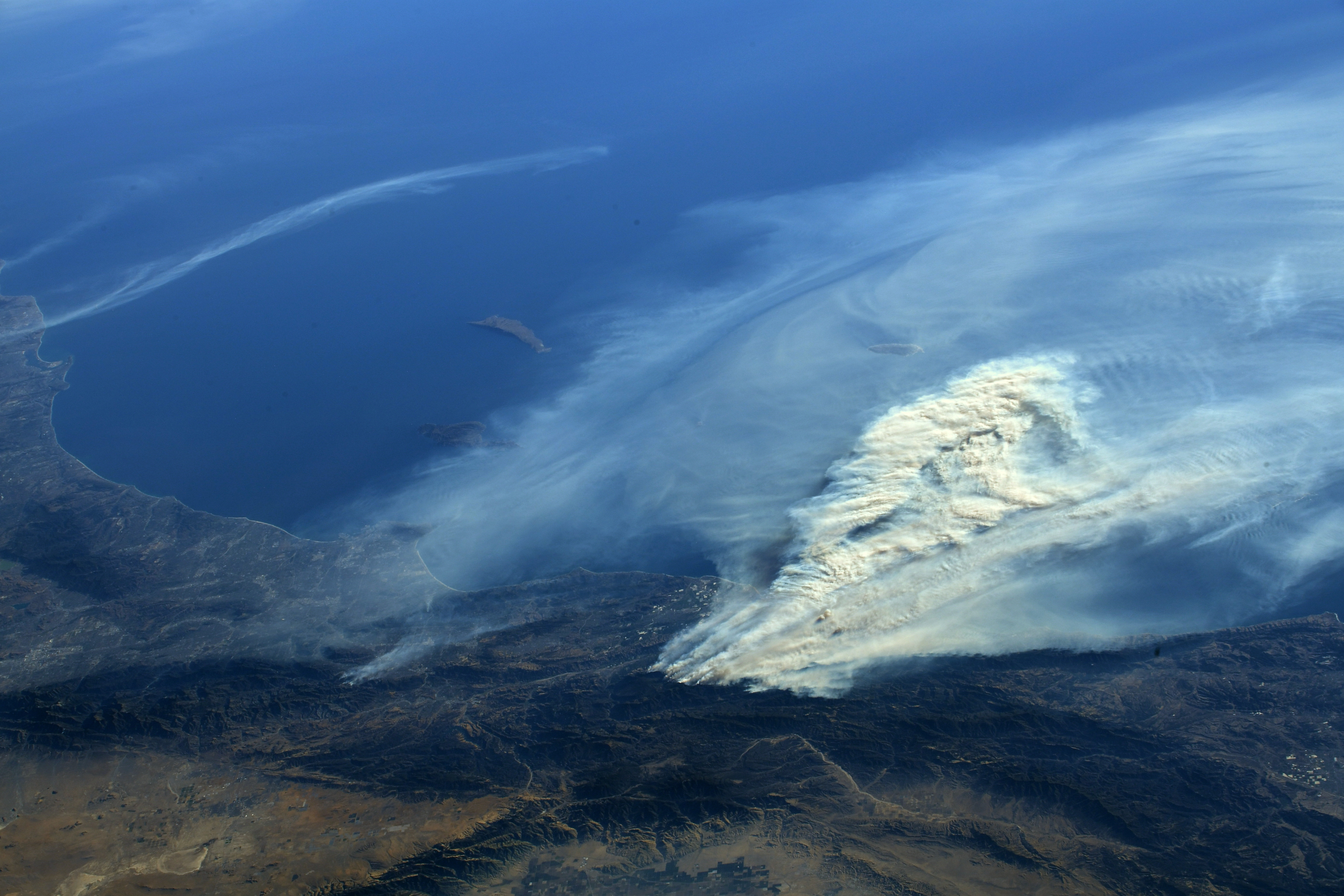 View of Southern California Wildfires From the Space ...