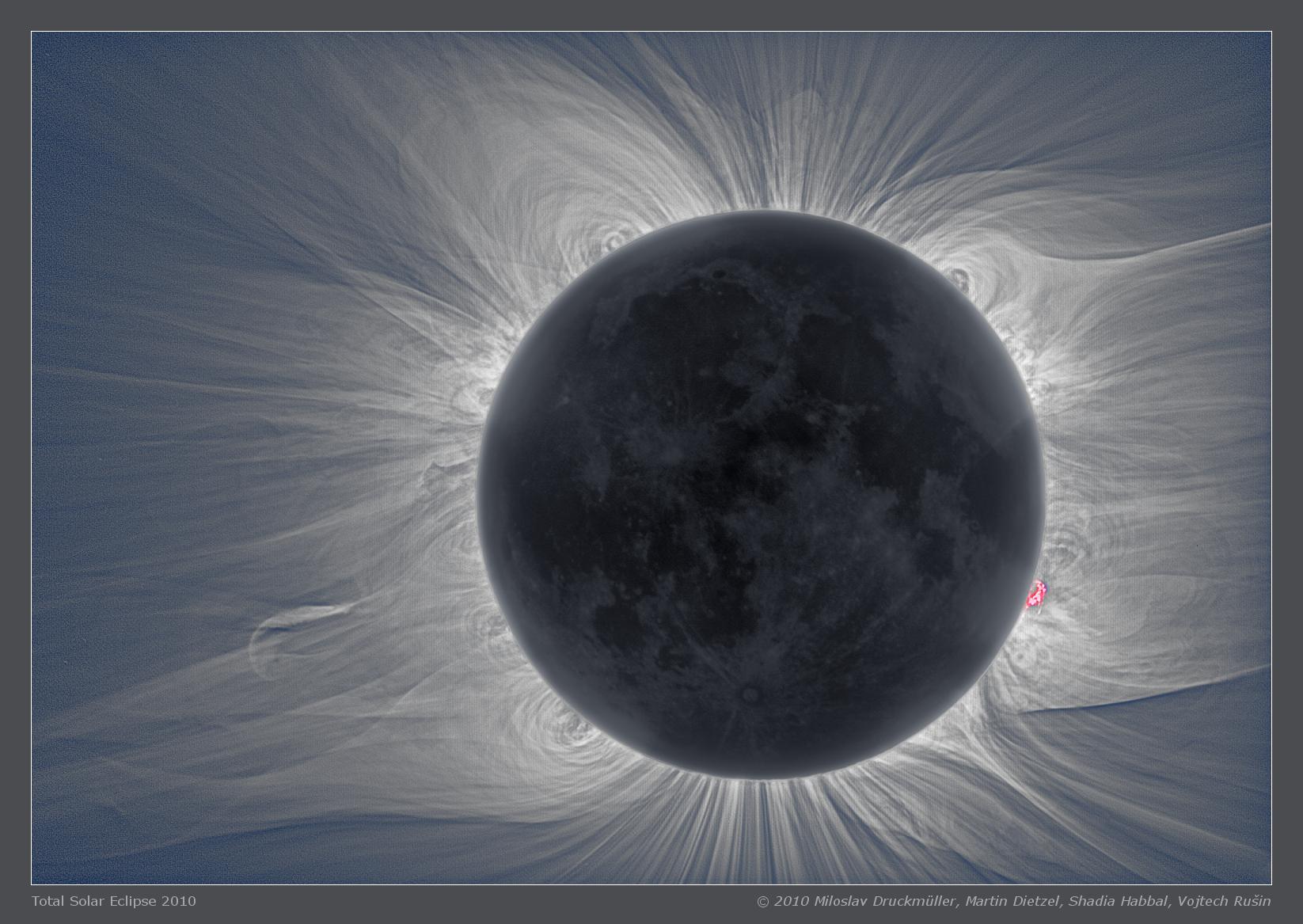 The Sun S Corona And The Moon