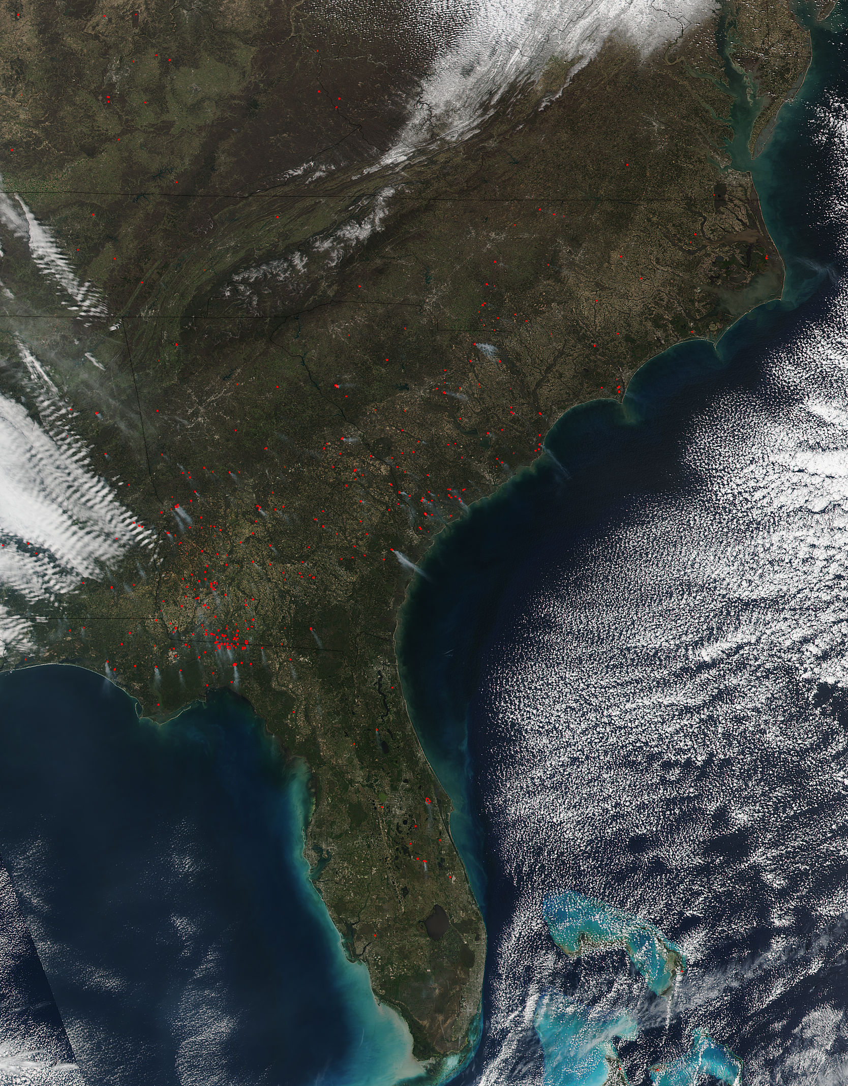 Wildfires Cross Much Of Southeastern United States