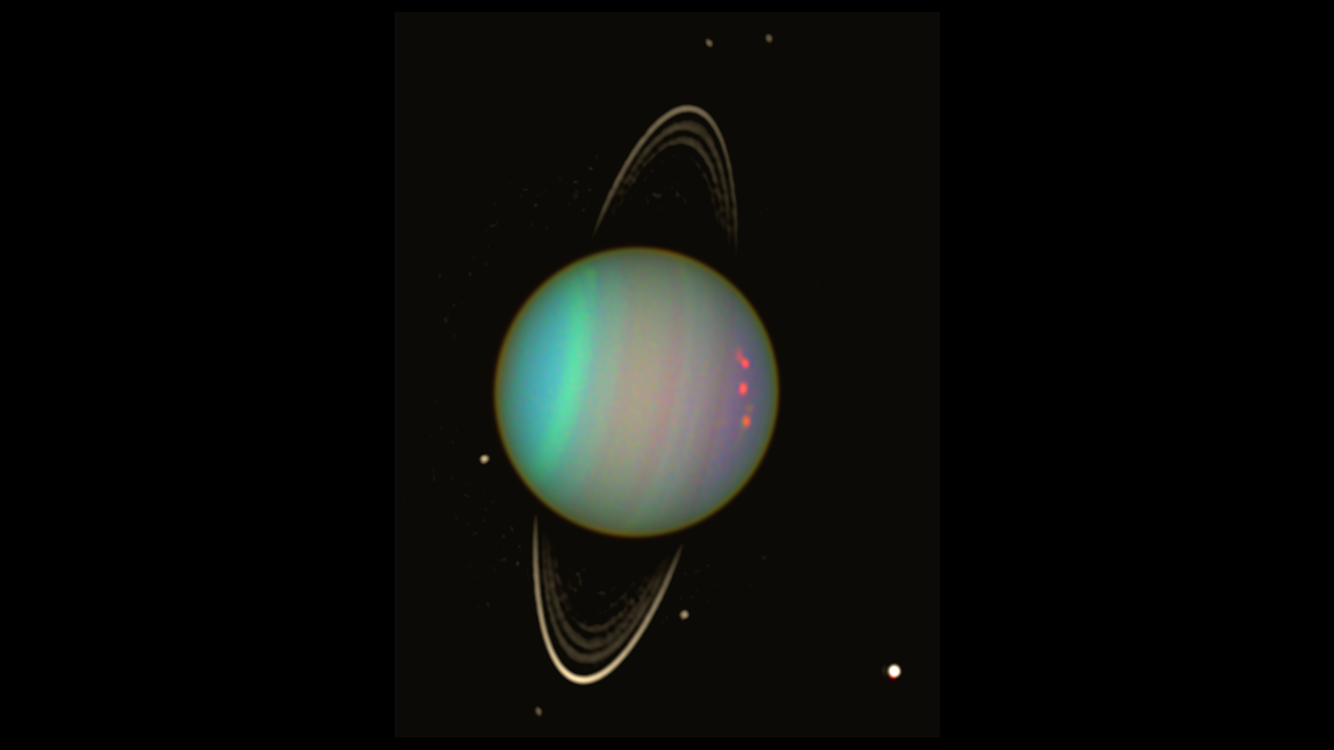 uranus in true and false color nasa
