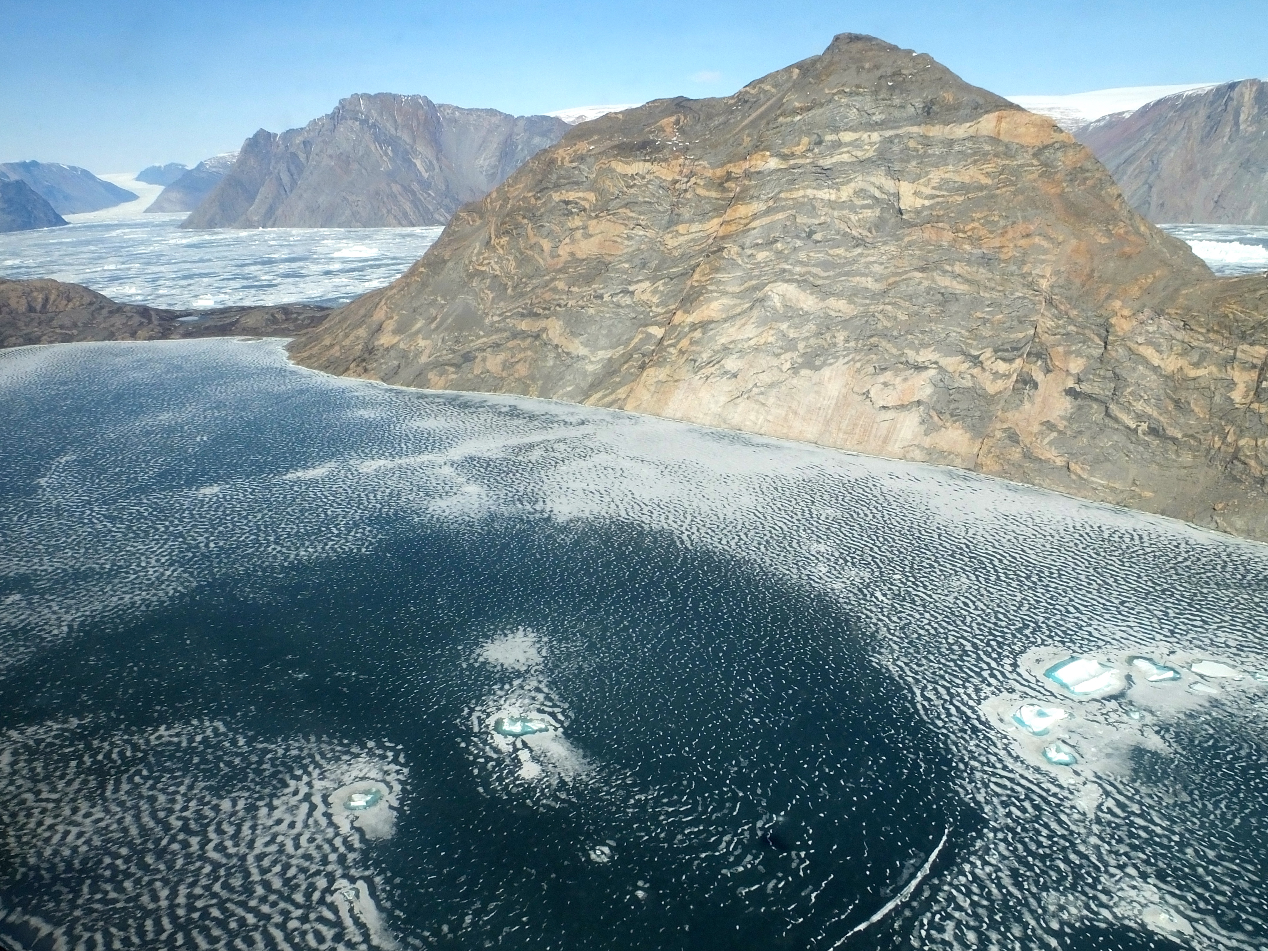 Fjord And Glacier In Eastcentral Greenland