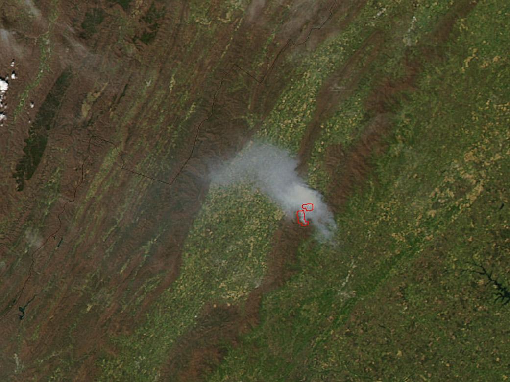 Rocky Mount Fire in Virginia | NASA