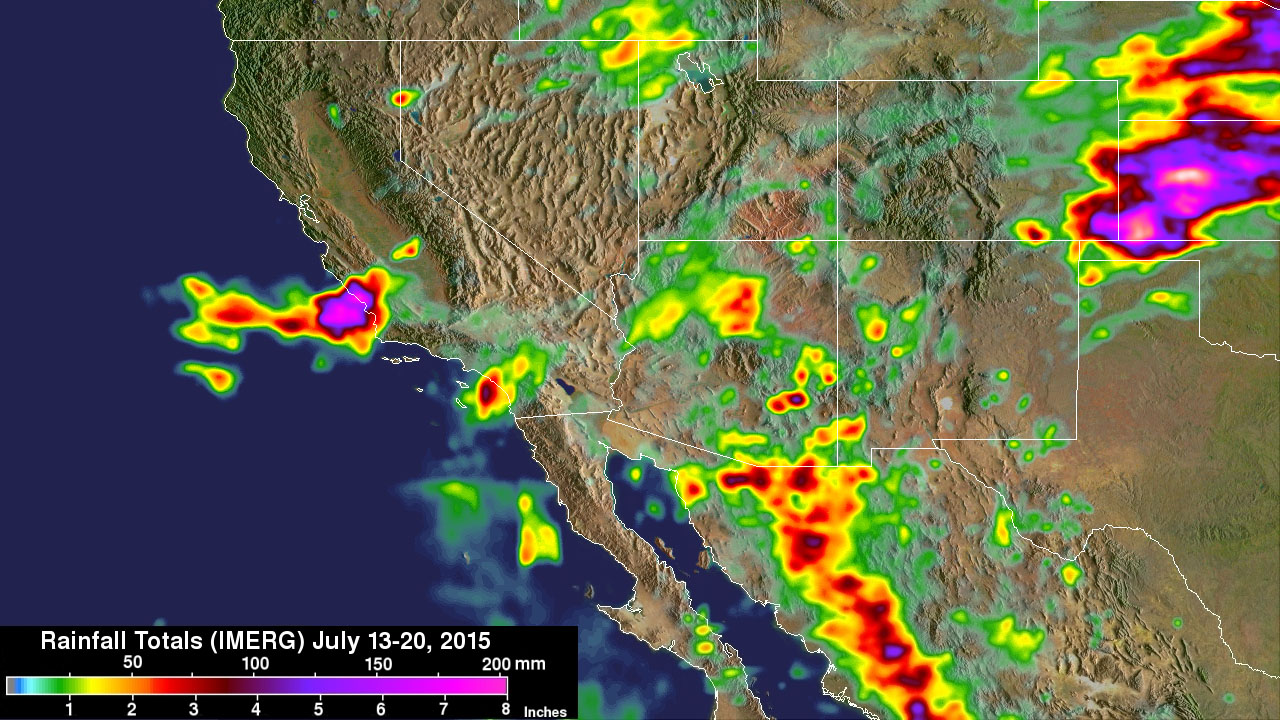 rain totals map with Nasa Measures Southwestern Us Record Rainfall on Feb likewise Climateillinois wordpress further PastFloodJune1972 besides Chinas Water Shortage And Power Plants moreover Flood97.
