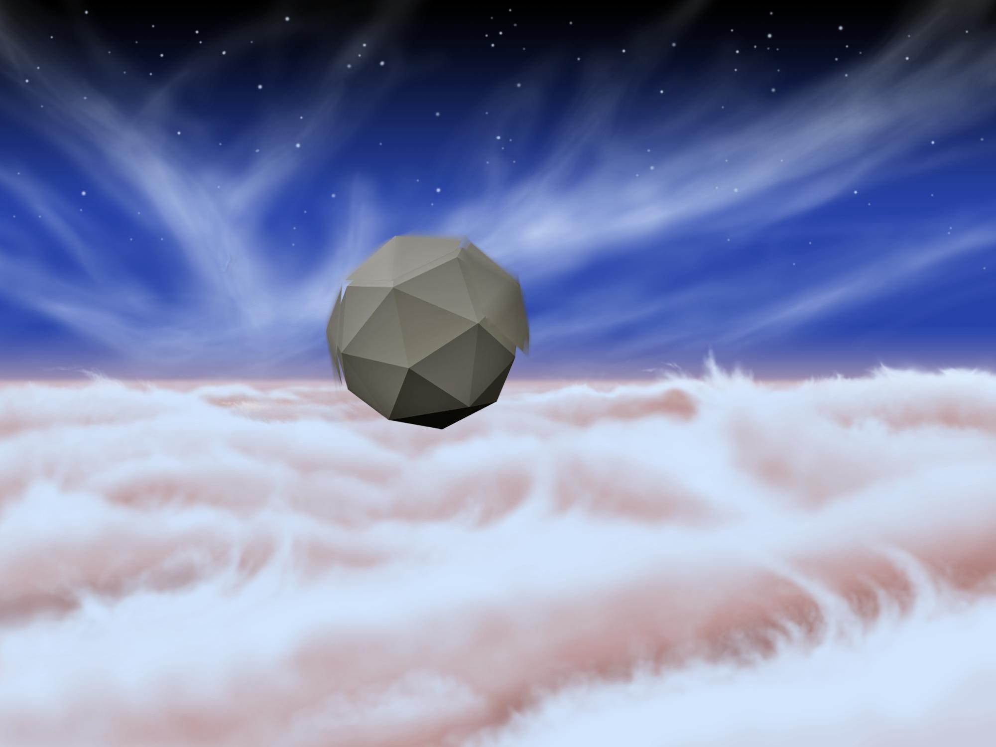 An Artist's Rendering Shows A Windbot Bobbing Through The Skies Of Jupiter