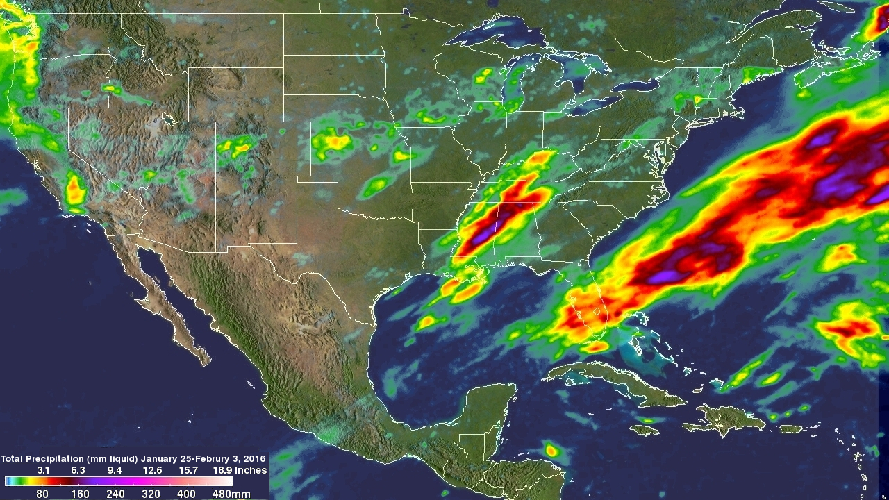 10 Days of US Extreme Precipitation Seen from Space NASA