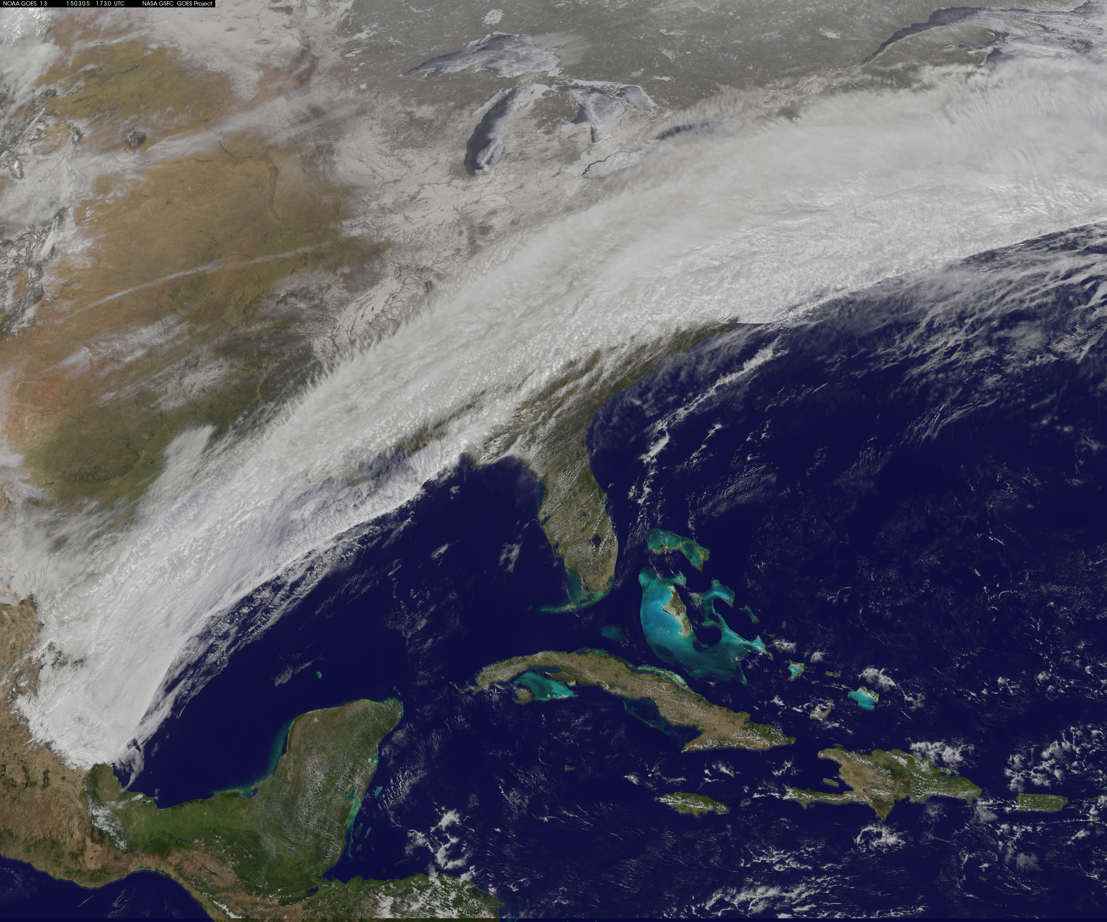 Satellite Movie Shows Winter Storm Sweep Over US East Coast NASA - Us weather map march