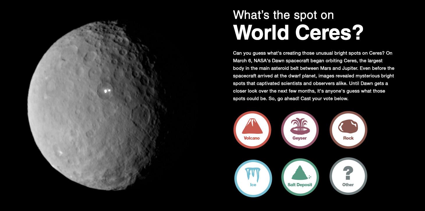 equipa da dawn partilha novos mapas e informações sobre ceres