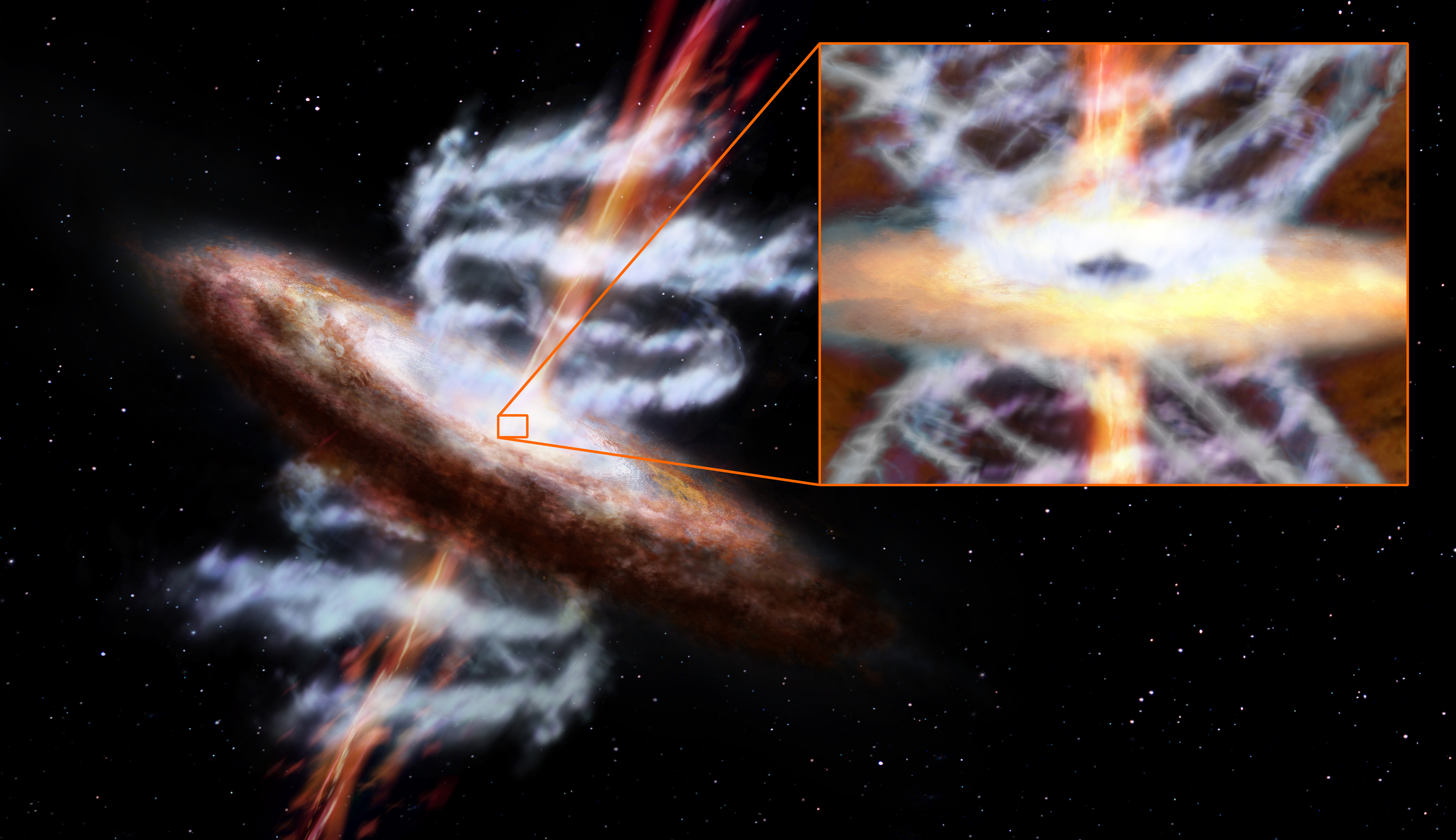 NASA has discovered a huge black hole moving at high speed