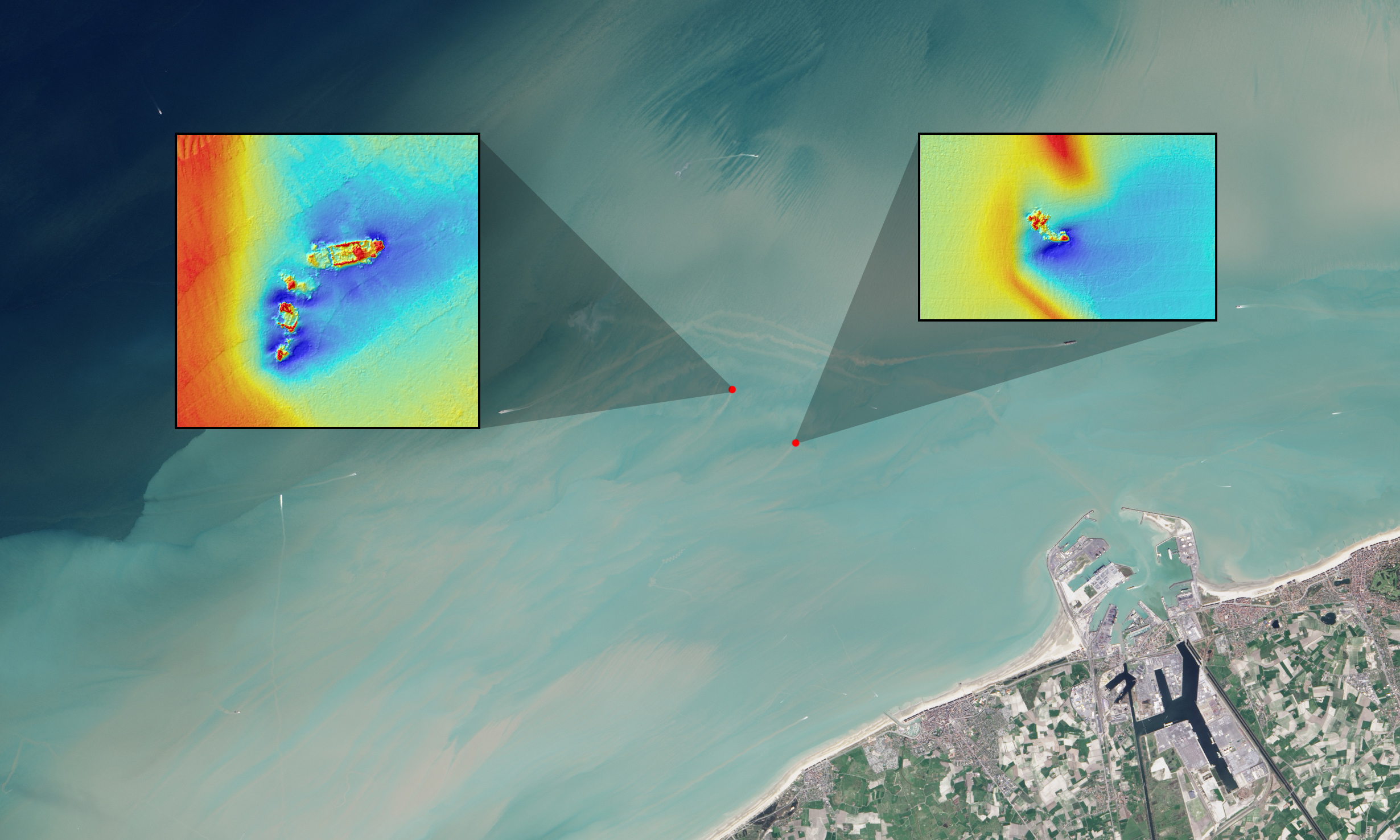 Landsat Spots Foundered Ships In Coastal Waters NASA - Search satellite maps