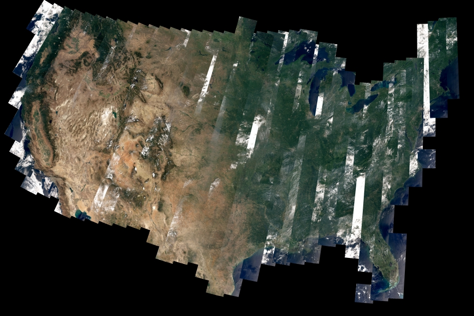 one of the first complete views of the united states from landsat 8