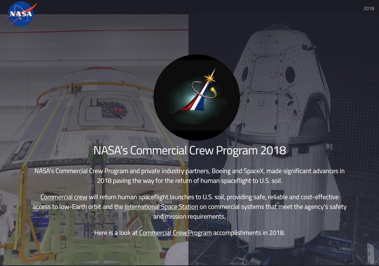 NASA: Commercial Crew Program 2018