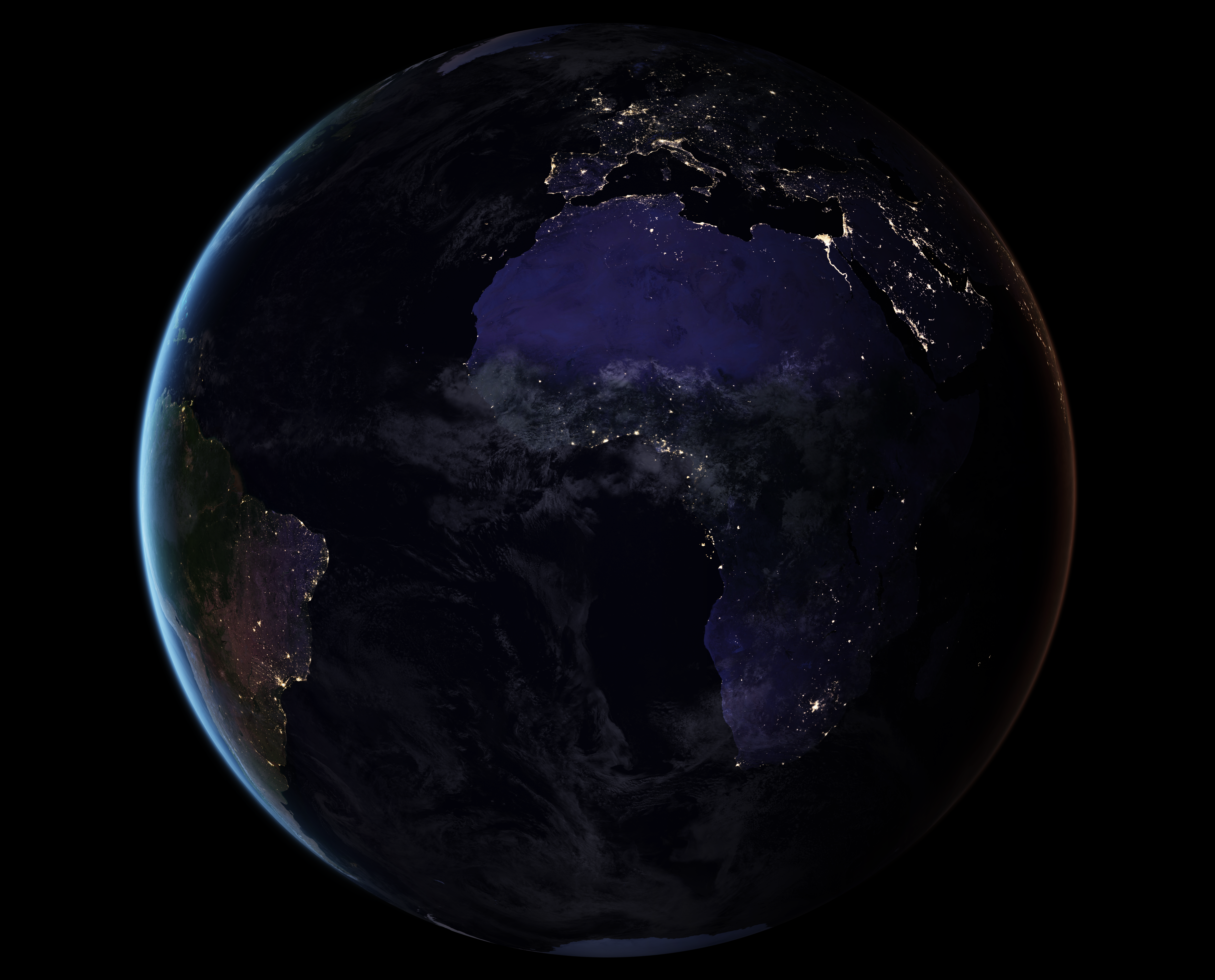 Earth at night view large image 4960x4000 png 114 mb gumiabroncs Images